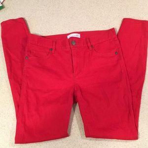 Fire truck Red Ann Taylor Loft Jean Leggings Sz 26